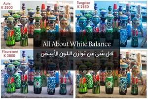 All About White Balance كل شئ عن توازن اللون الأبيض