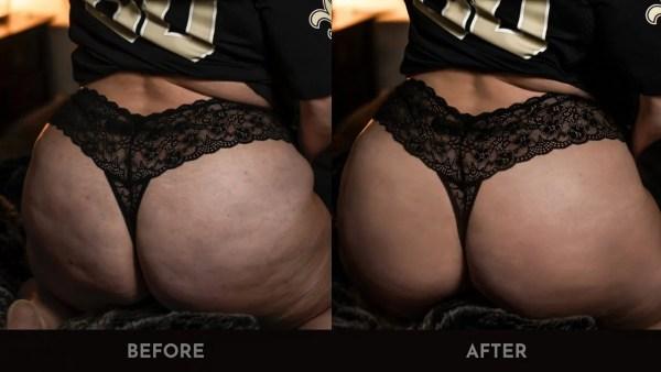 boudoir retouching ahnvee photography booty thong jersey butt