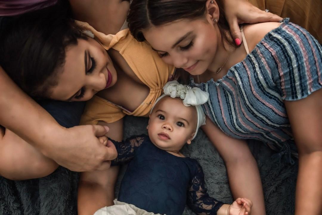creative family photo shoot little baby