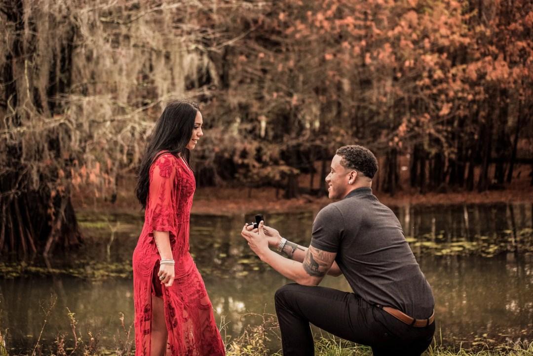 beautiful proposal engagement photo