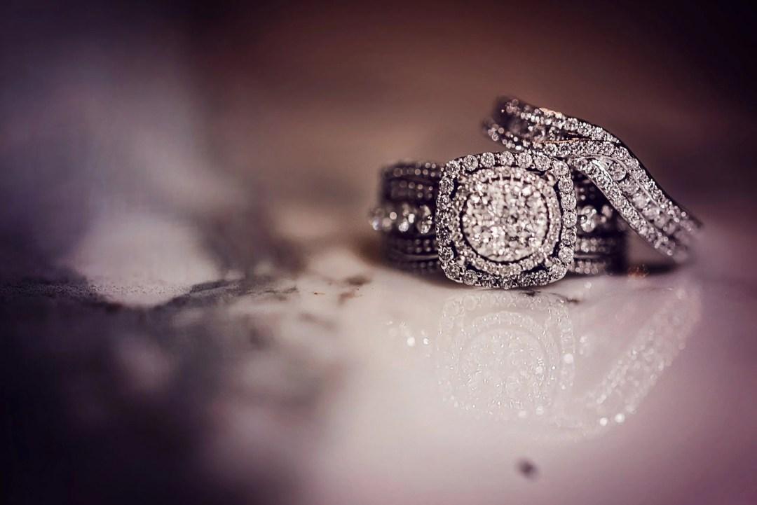 creative vintage wedding ring portrait