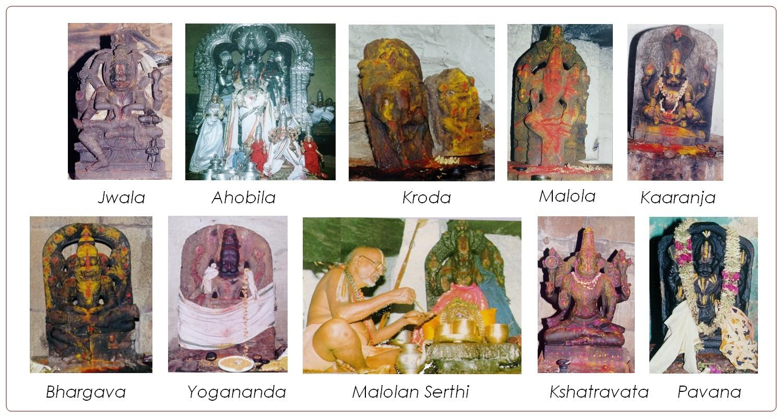 Vishnu Murthis in Ahobilam.