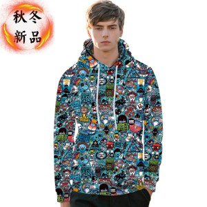 autumn and winter new men's sweater digital printing hoodie custom printing