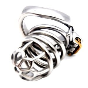 adult male toy metal stainless steel chastity lock penis bondage bird cage erotic health supplies