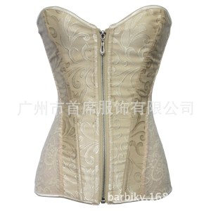 After dark factory direct sales court corset lace steel bone zipper body shaper sexy lingerie a generation