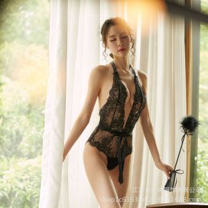 Adult Sexy Tulle Ladies Sexy Lingerie Transparent Lace Bodysuit Bodysuit Seduction Set