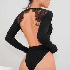 AliExpress Explosion Style Autumn New Sexy Lingerie Sexy Lace Backless Splicing Bodysuit