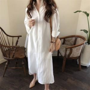 a new generation of women's large size loose shirt skirt and long cotton and linen blouse on behalf of spring