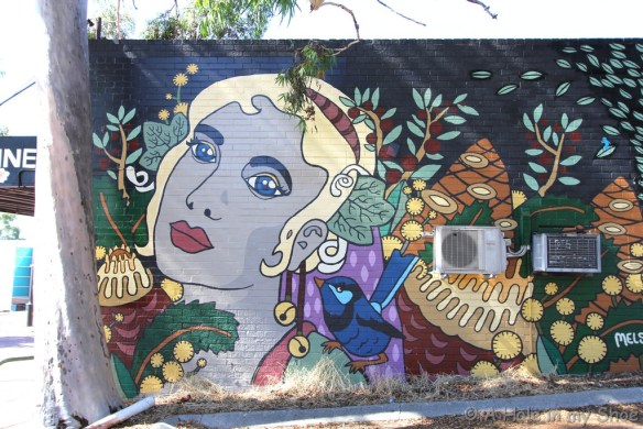 Painted on the side of the Bassendean Oriental Restaurant by Melski
