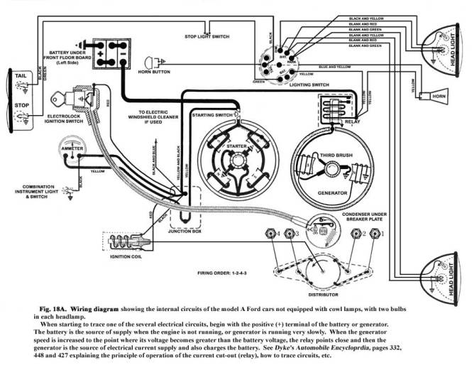 ford model a wiring diagram - wiring diagram, Wiring diagram