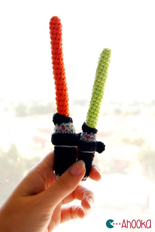 Free Star Wars Crochet Patterns light saber