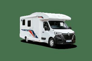 Der Ahorn Camp Eco 690 teilintegriertes Wohnmobil von vorne
