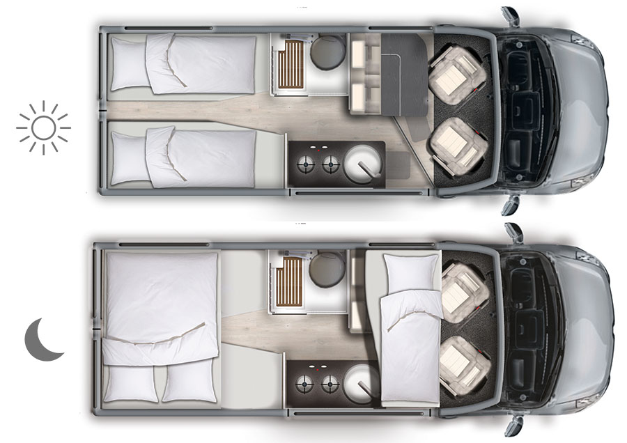 Der Grundriss des Van 620