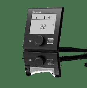 Über das digitale Truma CP+ Bedienpaneel mit Zeitschaltuhr können die individuelle Temperatureinstellungen und die Boost-Funktion für schnelle Wasserversorgung und Raumaufheizung geregelt werden.