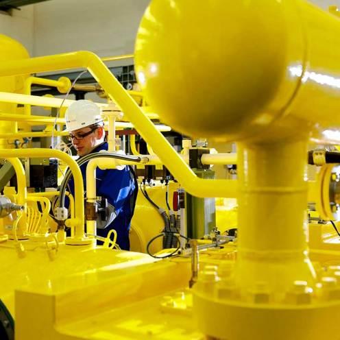 Temperatursensor im Gasspeicher Epe: Überwachung der Gastemperatur.