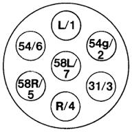 Steckerbelegung 7 & 13 pol für Pkw Anhänger Pkwanhänger