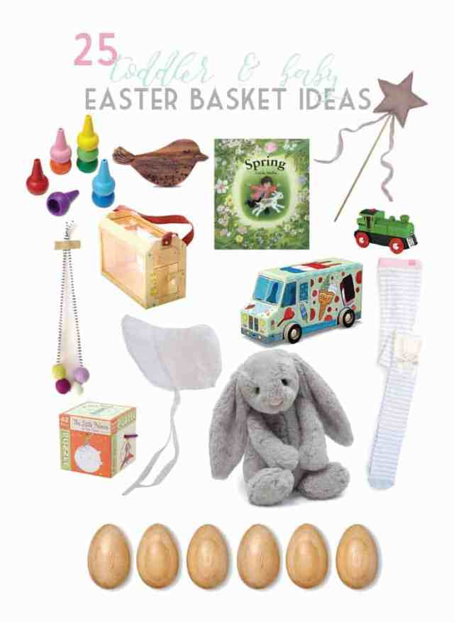25 ideas for filling your toddler and baby easter baskets (sweets free!)| Ahrens at Home