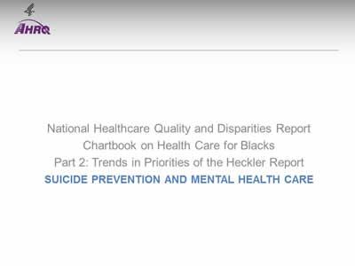 Chartbook on Black Health Care: Slide Presentation