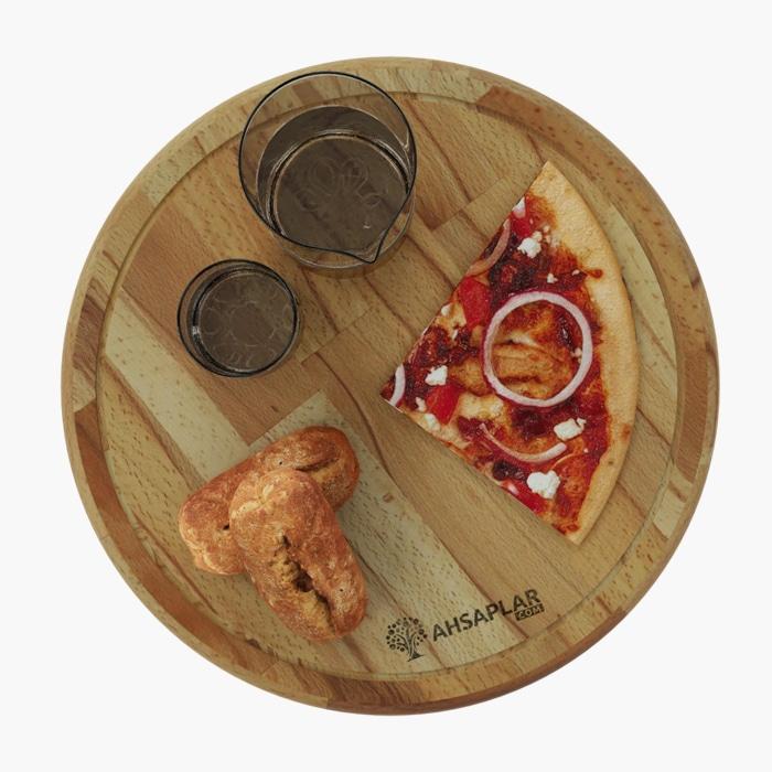 Kayın Rustik Pizza Tabağı
