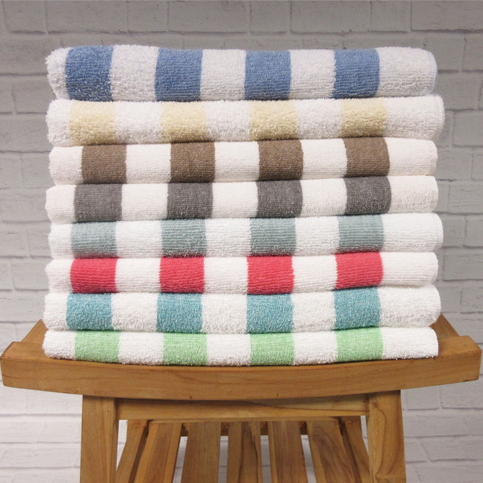 1888 Mills Fibertone Cabana Stripe Pool Towels 30x60 86