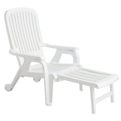 Pull Out Chairs Recliners That Look Like Regular Grosfillex Bahia Stacking Deck Chair W Footrest White 10 Per Home Lounge Case Price
