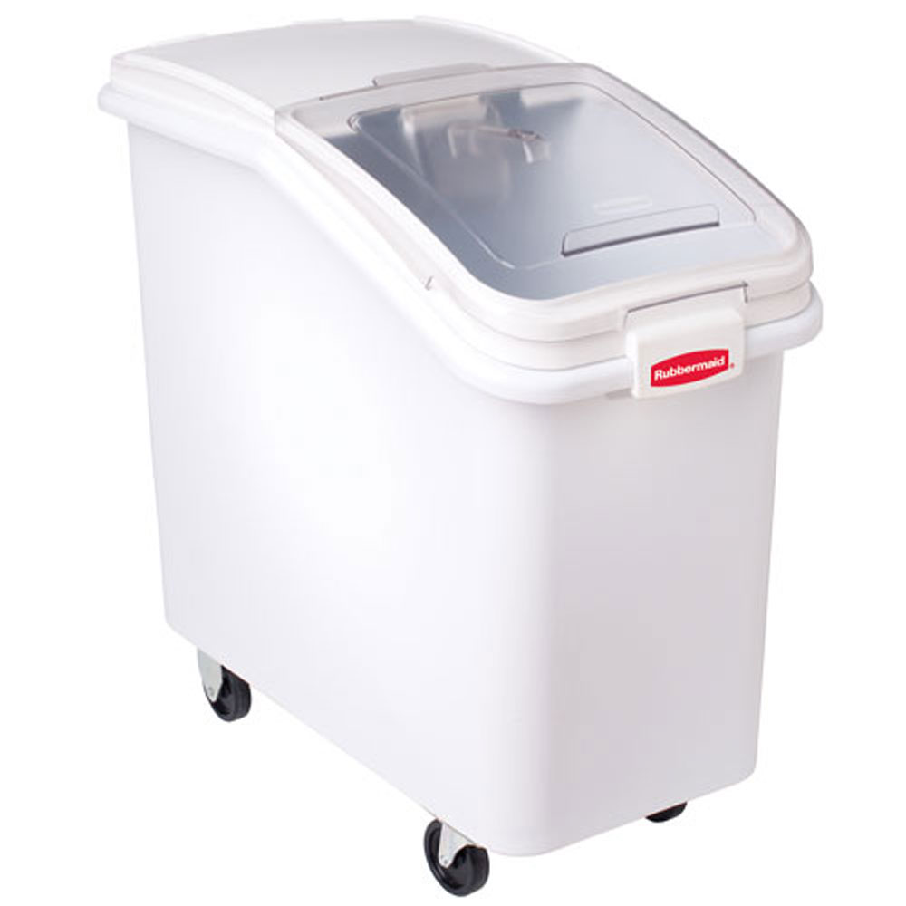 small recycling bins for kitchen bar stools rubbermaid commercial 360288whi whi prosave™ ingredient ...