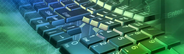 Abstract computer keyboard - 3d render