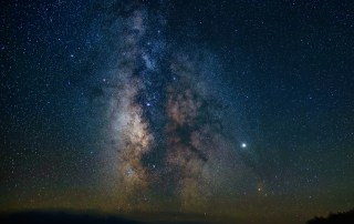 Core of the Milky Way over the Southern Horizon
