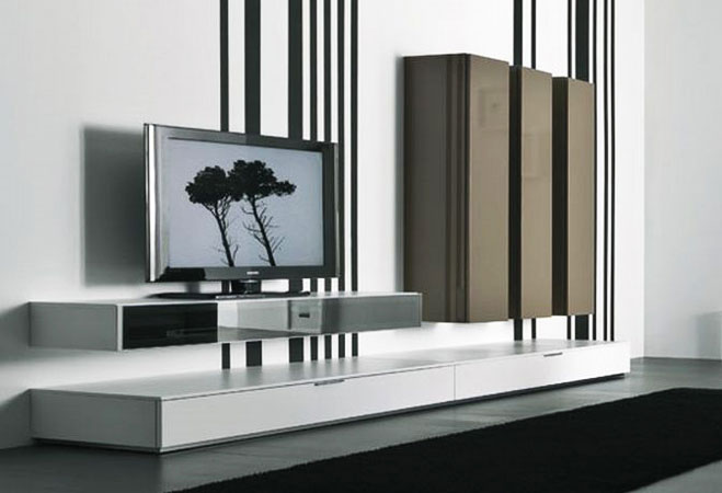 TV cabinet design wall mount tv cabinet living room design in Taman Equine Sri Kembangan