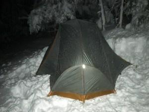 Kamperen in de sneeuw - Foto door Joost Daniels