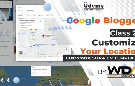 How to Customize Google Map Section in Sora CV Template?