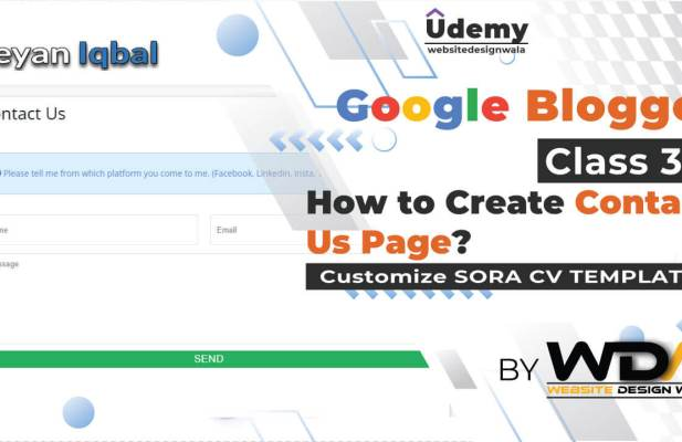 Create contact us form in blogger