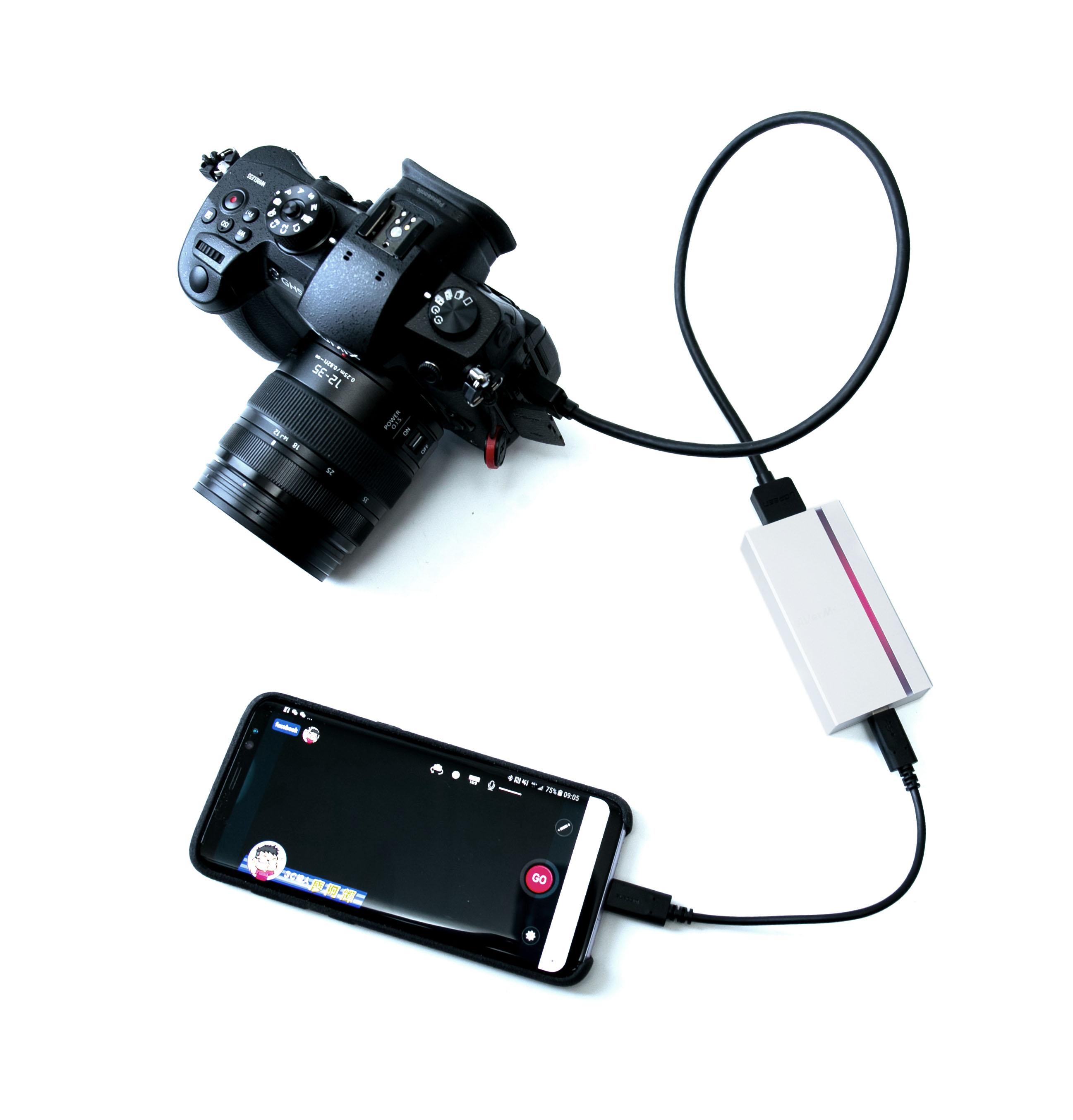 單眼 + 手機 = 高畫質直播! AVerMedia 圓剛 UVC 影像擷取器 BU110 應用篇 – 3C 達人廖阿輝