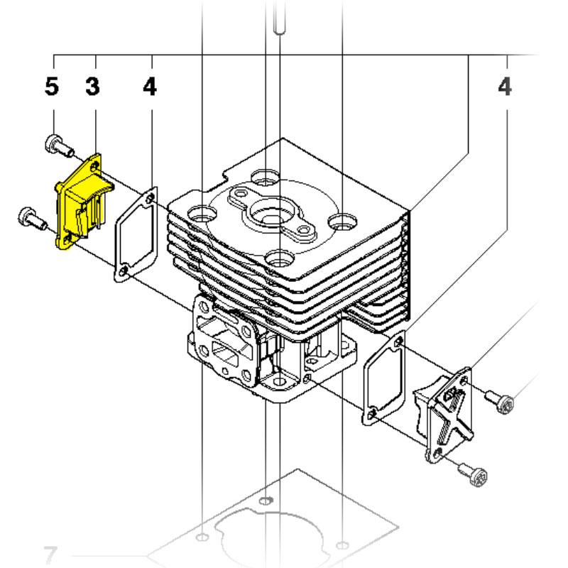 130BT Husqvarna Backpack Blowers Cylinder Parts