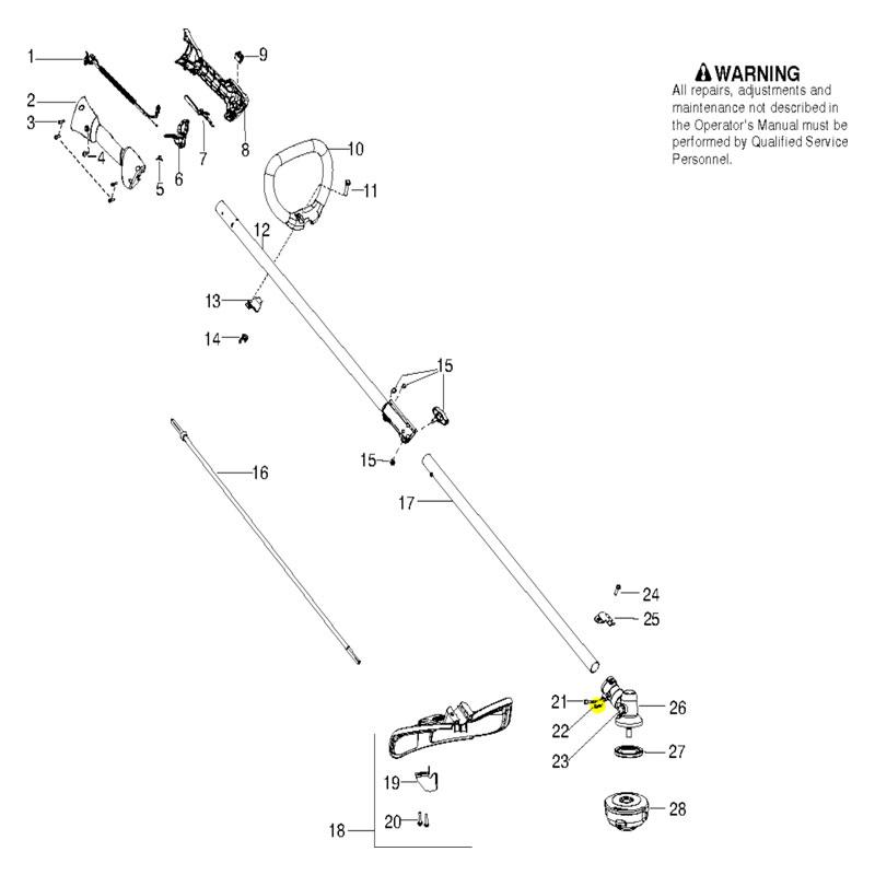 128LD Husqvarna Trimmer & Edger Trimmer Parts shaft And