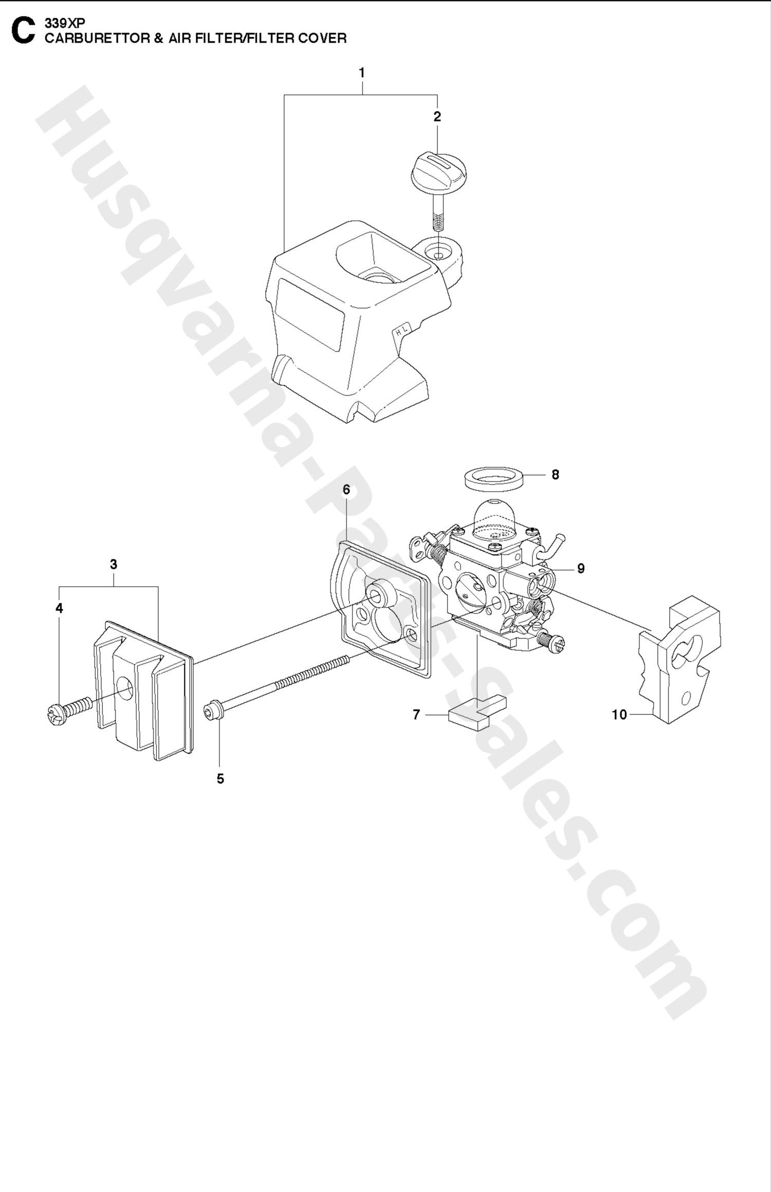 339xp Husqvarna Professional Chain Saw Carburetor Amp Air