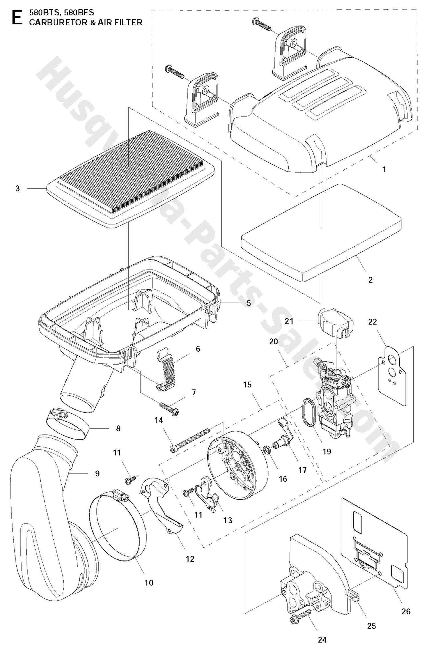 580bts Husqvarna Backpack Blowers Carburetor Amp Air Filter