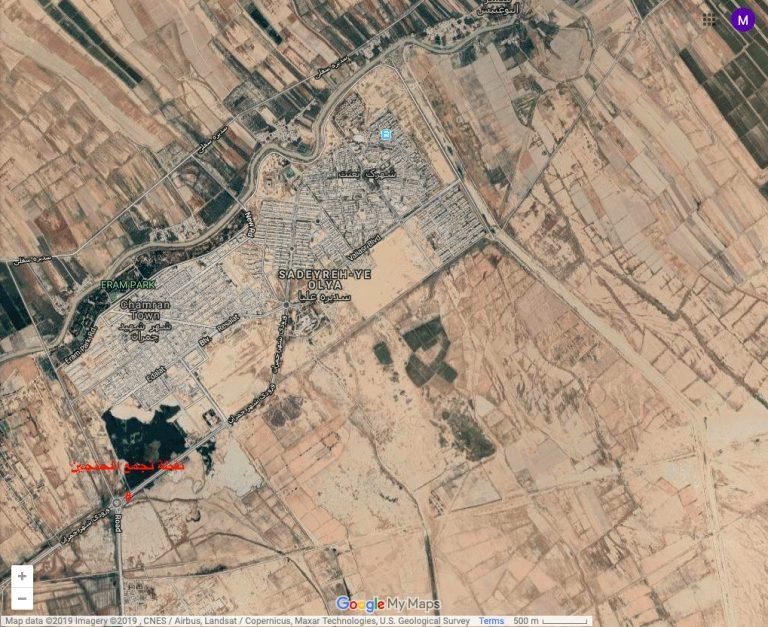 مدينة الجراحي نقطة وقوع المجزرة 768x627