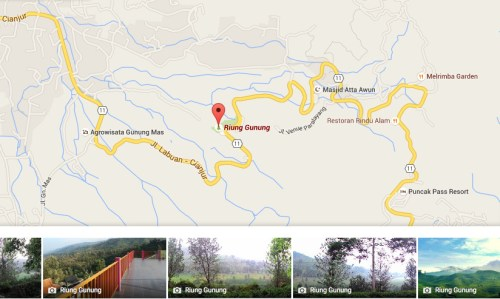 Peta Taman Riung Gunung