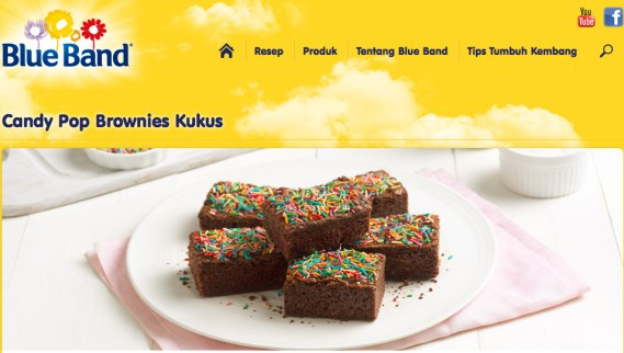 Candy Pop Brownies Kukus Blueband