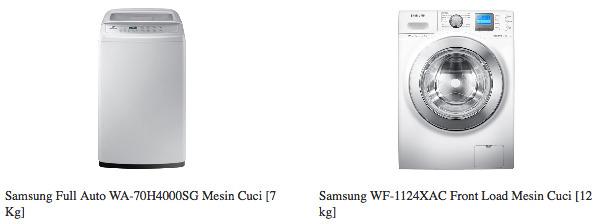 Jual Mesin Cuci Samsung Terbaru Harga Menarik