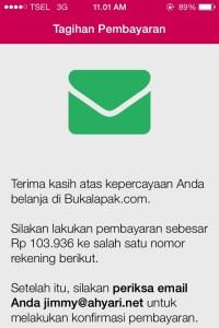 Instruksi Tagihan Pembayaran