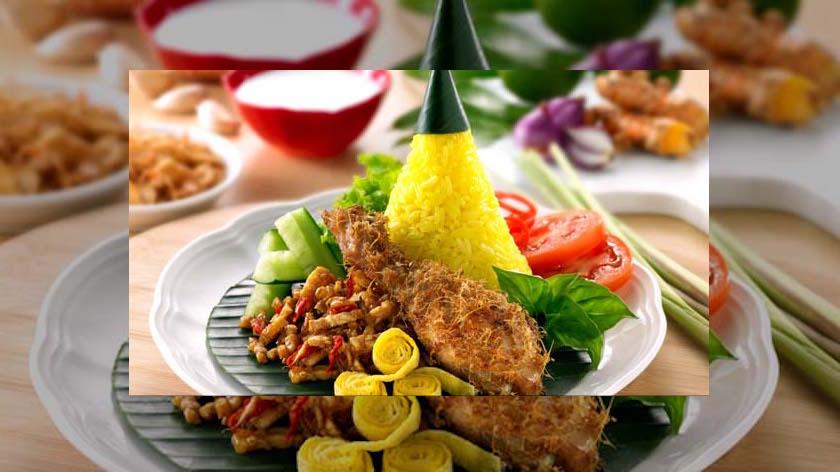 resep nasi kuning ayam goreng