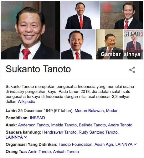 Biodata Singkat Sukanto Tanoto