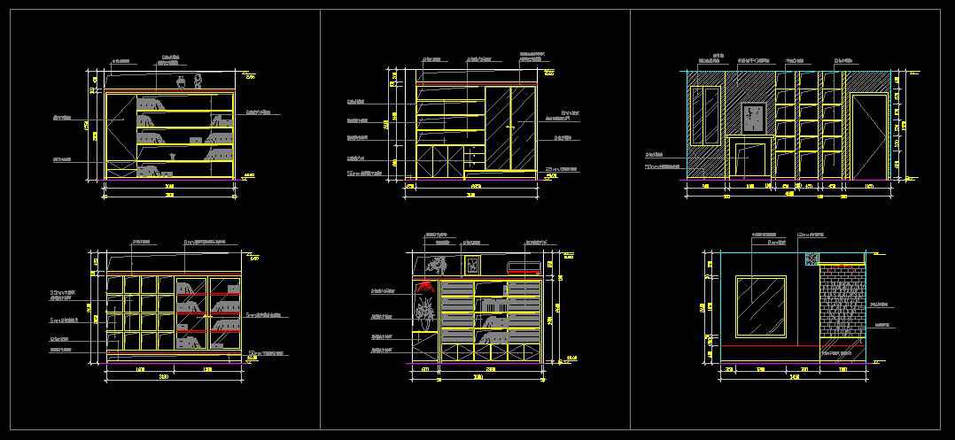 Decorative Elements,Study Room Design Ideas, Study Room Details,Study Room Autocad Drawings
