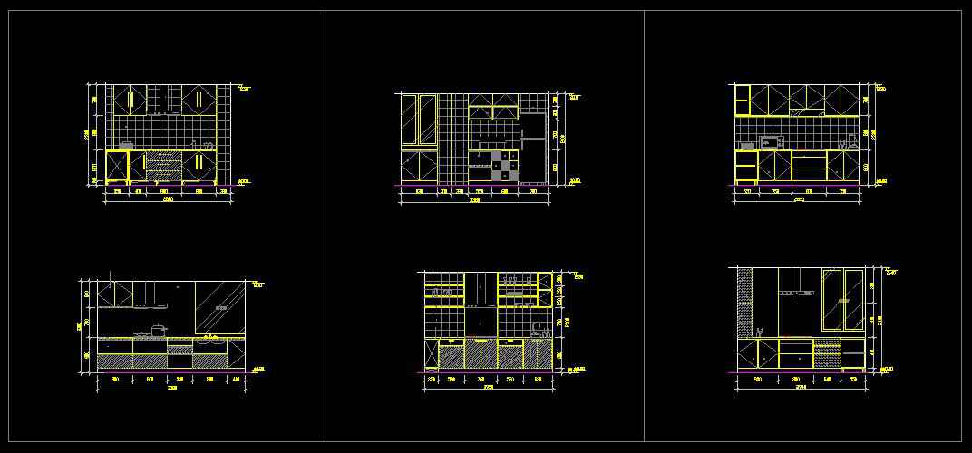 ☆【Kitchen Design Template】☆ Architectural Autocad Drawings Delectable Autocad Kitchen Design Painting