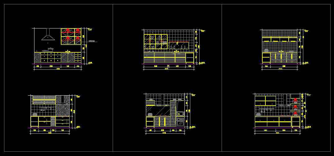 ☆【Kitchen Design Template】☆ Architectural Autocad Drawings Amazing Autocad Kitchen Design