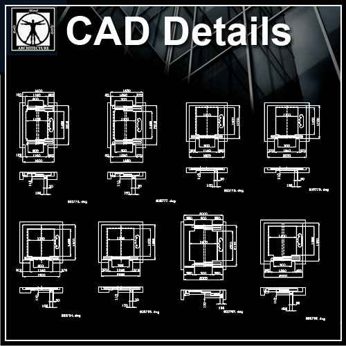 Free Elevator 2 Architectural Cad Drawings