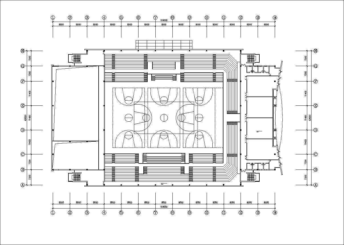 Stadium Cad Drawings 3