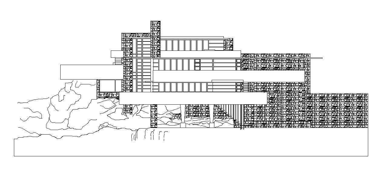 Falling water frank lloyd wright posted by cad blocks 🔍 1 99